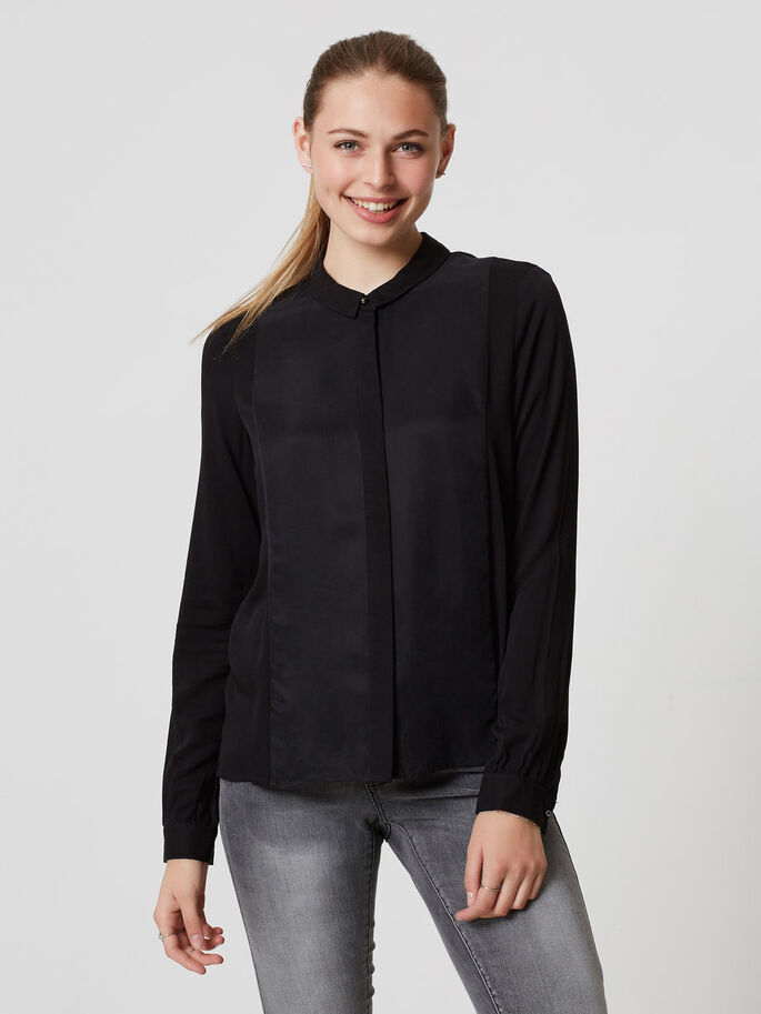 LONG SLEEVED SHIRT, Black, large