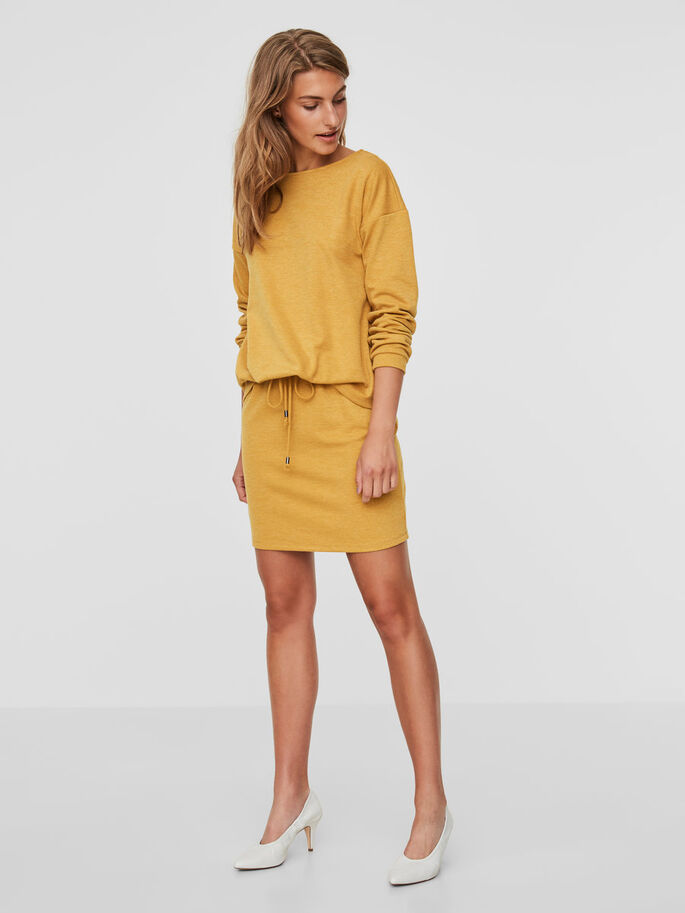 LONG SLEEVED DRESS, Harvest Gold, large