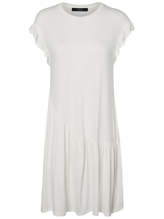 FRILLS SHORT SLEEVED DRESS, Snow White, large
