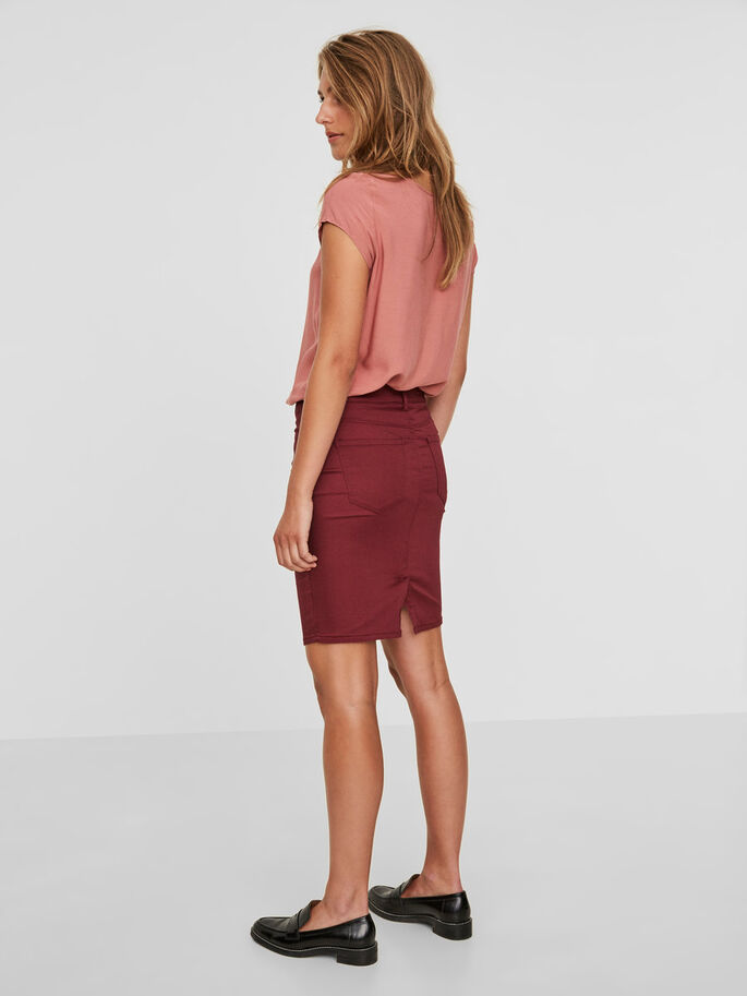 NW PENCIL SKIRT, Zinfandel, large