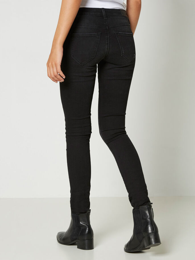 FIVE LW SUPER SKINNY FIT JEANS, Black, large