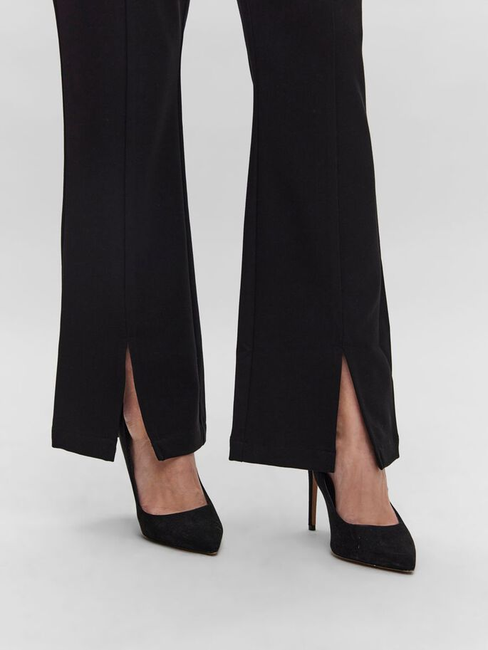 NORMAL WAIST TROUSERS, Black, large