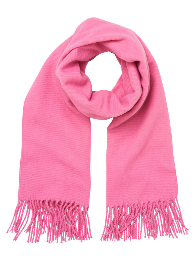 KNITTED SCARF, Azalea Pink, large