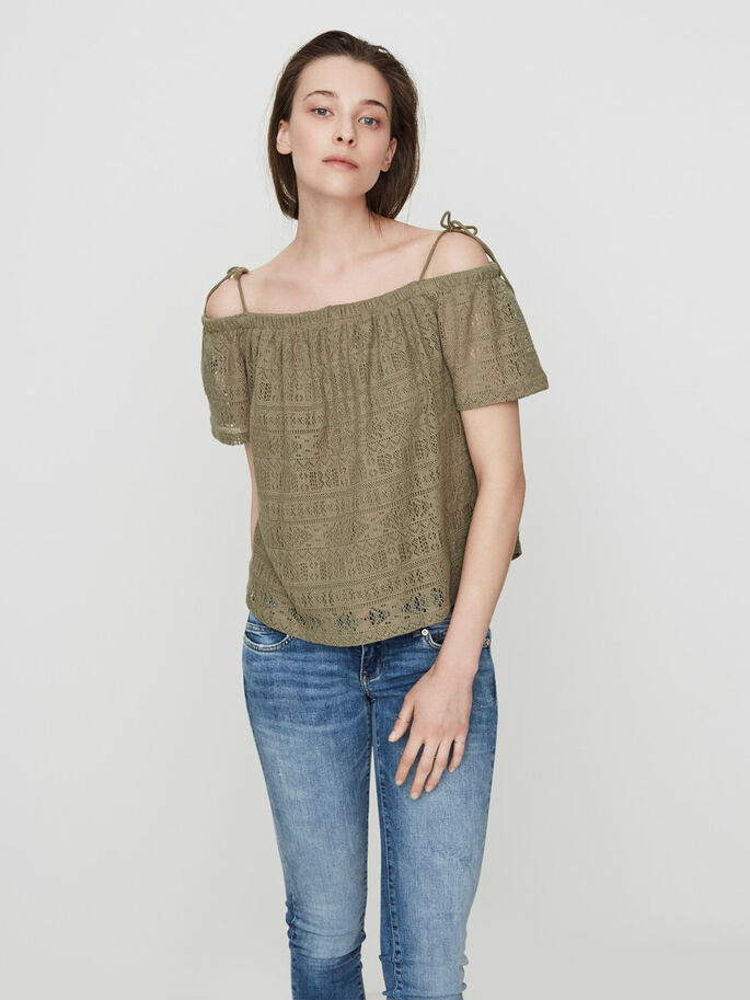 OFF-SHOULDER- OBERTEIL MIT KURZEN ÄRMELN, Mermaid, large