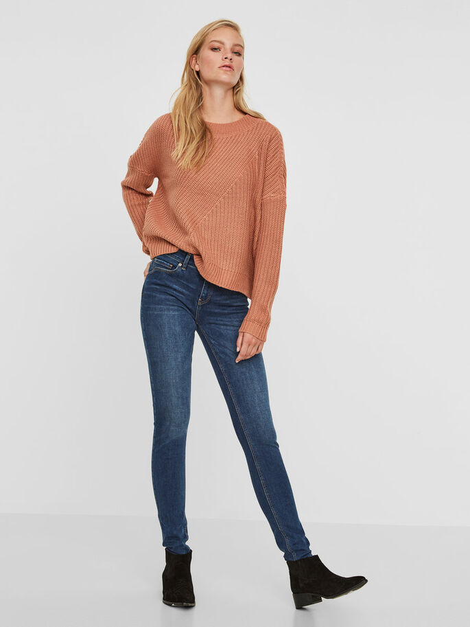 LUCY NW SUPER SKINNY JEANS, Dark Blue Denim, large
