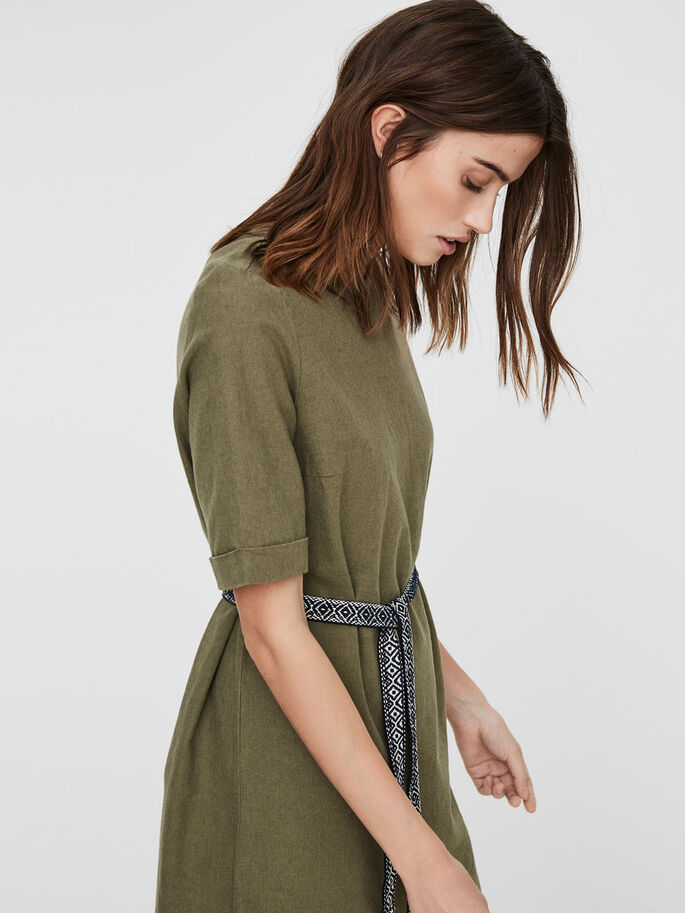 LINEN DRESS, Ivy Green, large