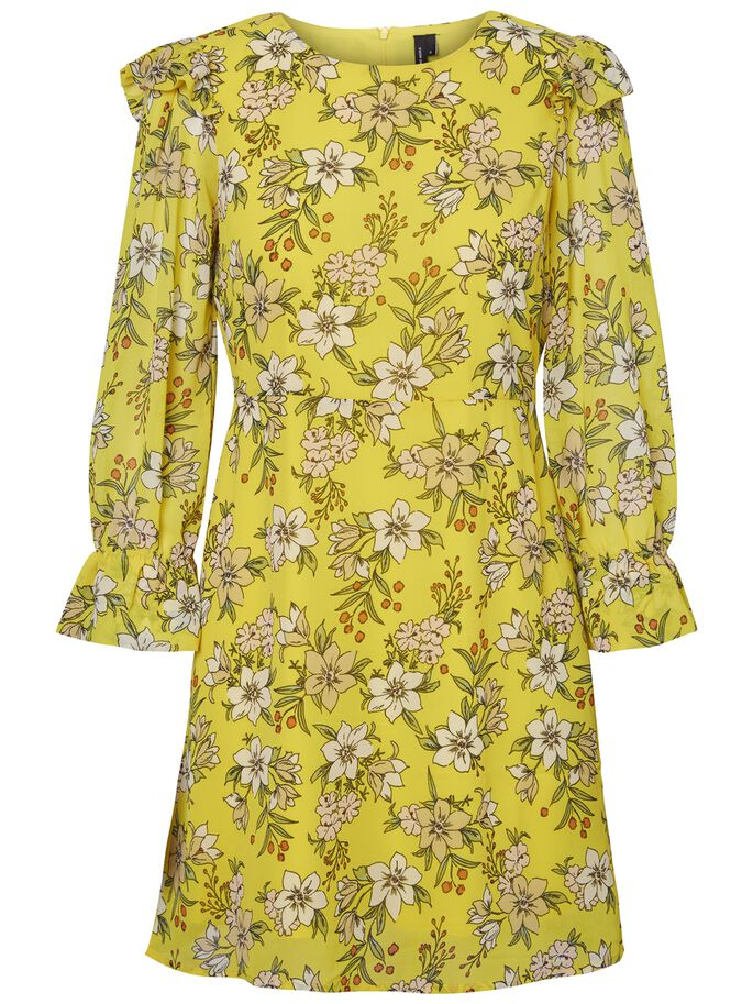 3/4 SLEEVED DRESS, Empire Yellow, large
