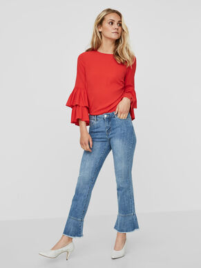 CROPPED NW FRILL JEANS