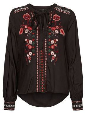 EMBROIDERED LONG SLEEVED BLOUSE