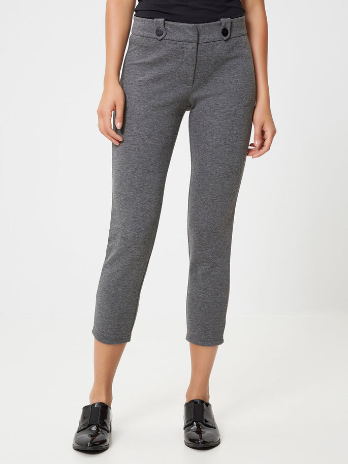 SLIM-FIT- HOSE, Medium Grey Melange, large