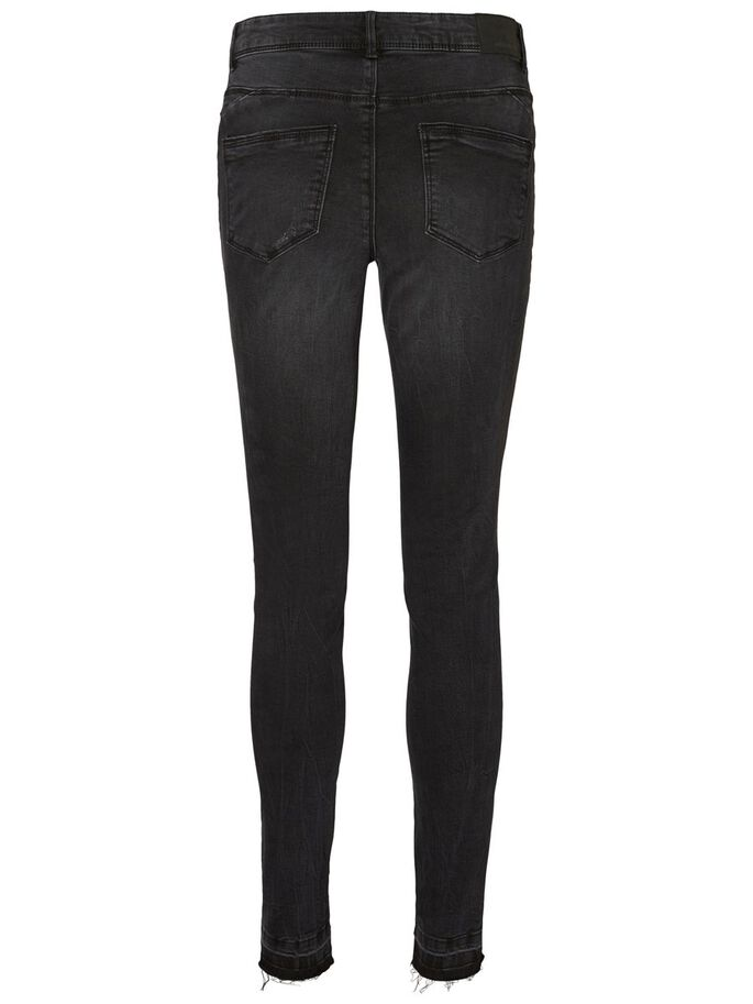 SEVEN NW ANKLE SKINNY JEANS, Black, large