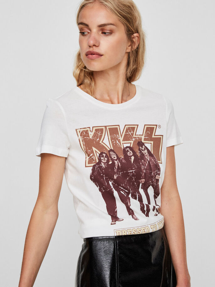 KISS T-SHIRT, Snow White, large