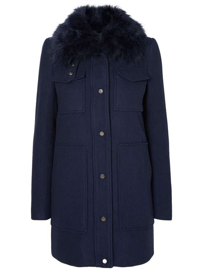 WOLL- MANTEL, Navy Blazer, large