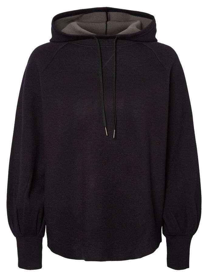 CASUAL SWEATSHIRT, Black, large