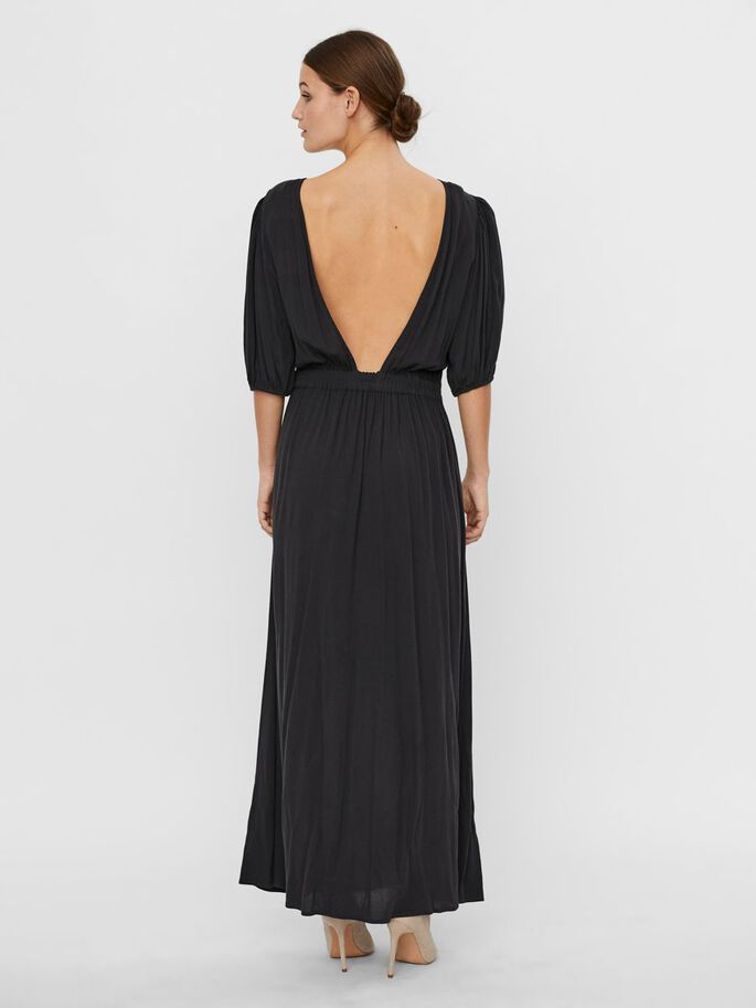 2/4 SLEEVED MAXI DRESS, Phantom, large
