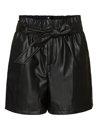 HIGH WAISTED COATED SHORTS