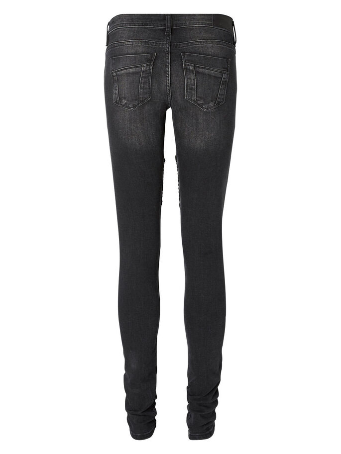 EVE LOW WAIST BIKER- SKINNY FIT JEANS, Black, large