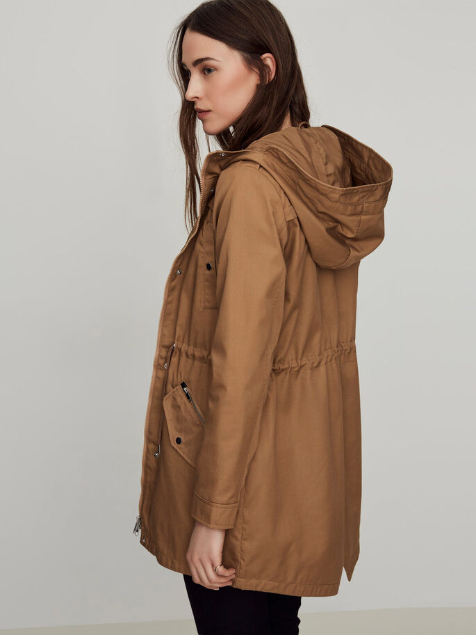 TRANSITIONAL PARKA COAT, Tigers Eye, large