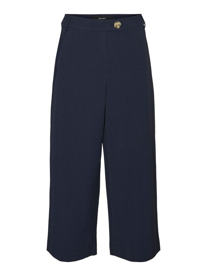 HIGH WAISTED TROUSERS, Navy Blazer, large