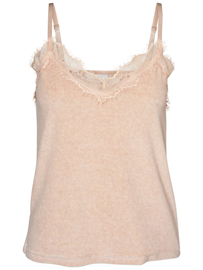 VELVET SINGLET, Cream Tan, large
