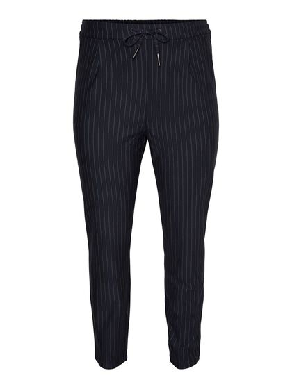 STRIPED NORMAL WAIST TROUSERS