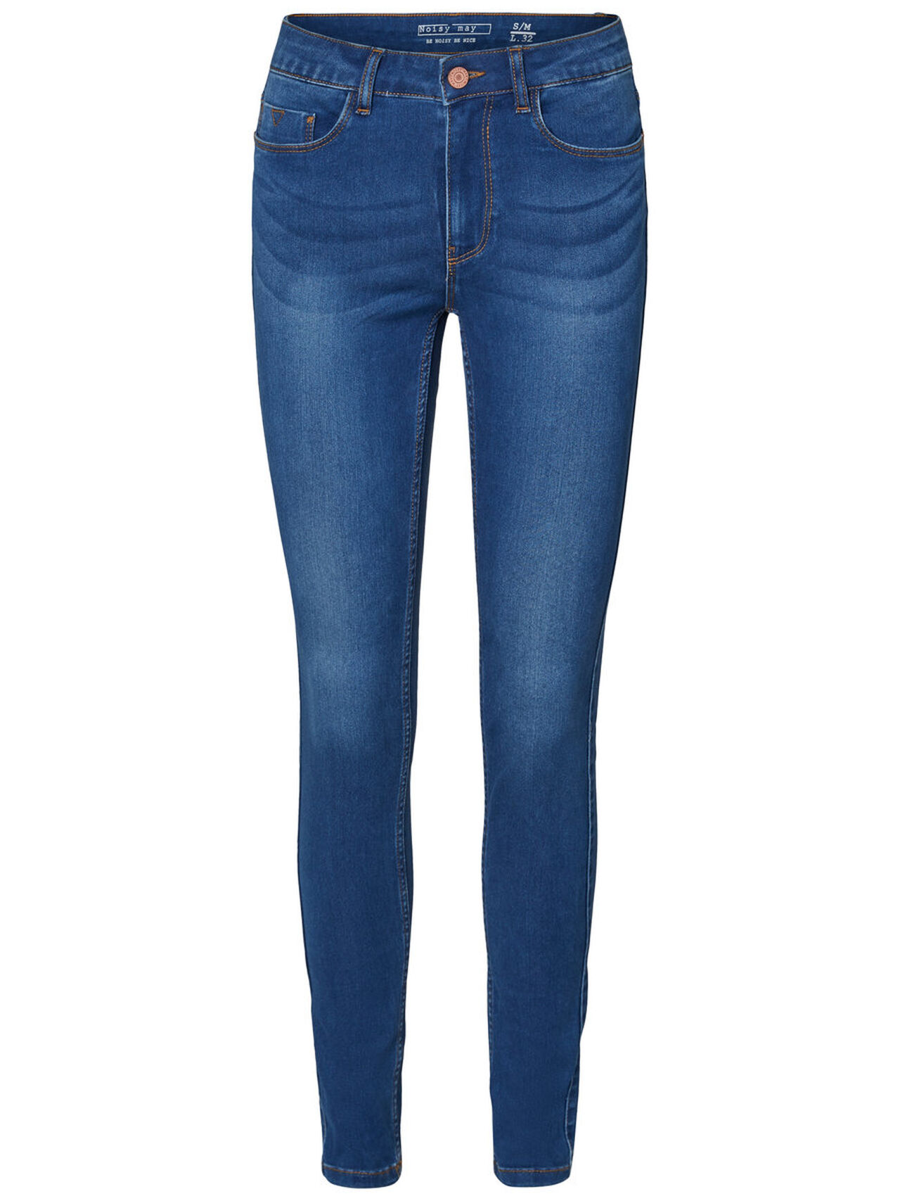 NOISY MAY Extreme Nw Soft Skinny Fit Jeans Damen Blau