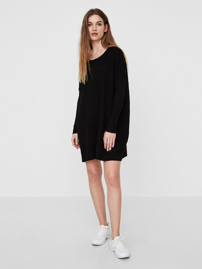 OVERSIZED KNITTED PULLOVER, Black Beauty, large