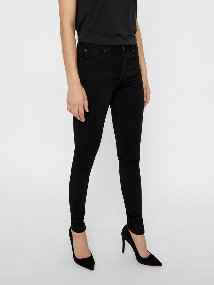 LUX NW JEANS SKINNY FIT, Black, large