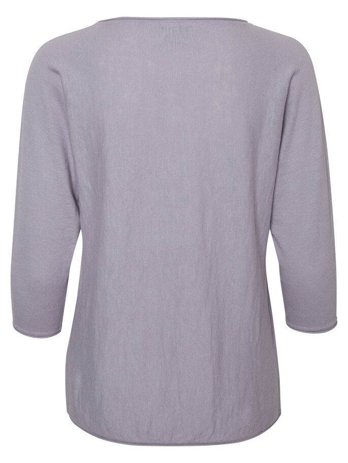 CASUAL 3/4 SLEEVED BLOUSE, Lilac Grey, large