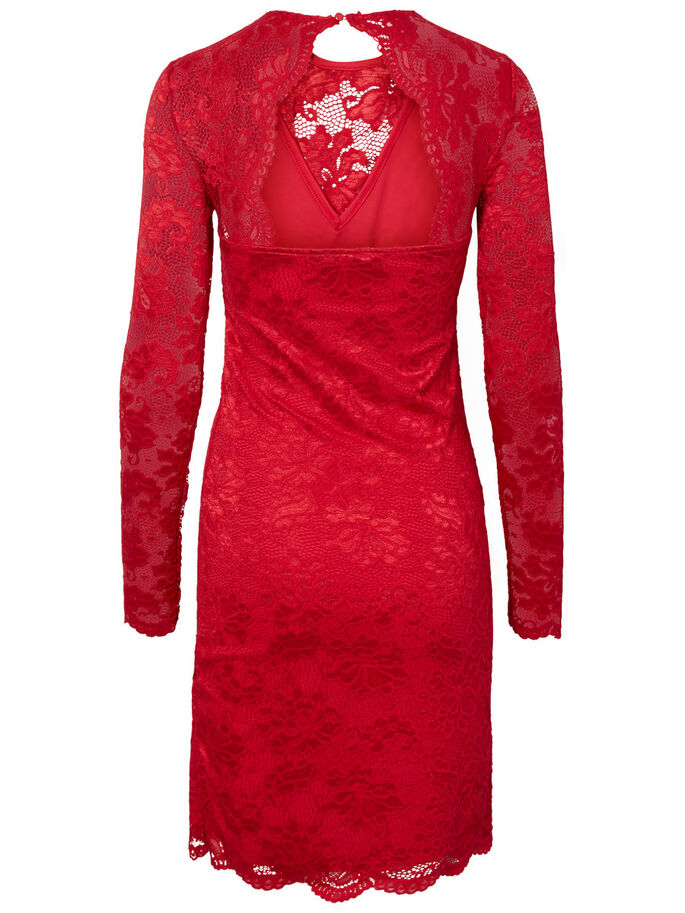 LACE DRESS, Lychee, large