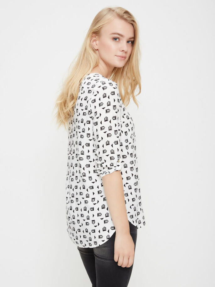 BEDRUKTE SHIRT MET 3/4 MOUWEN, Snow White, large