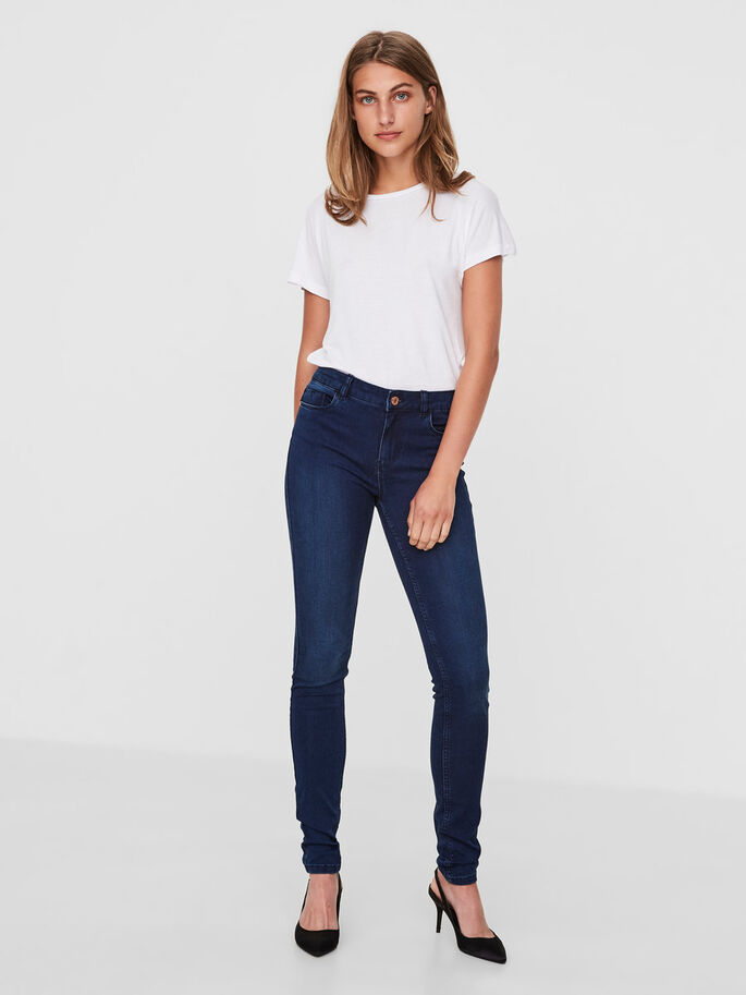 EXTREME LUCY NW SKINNY FIT JEANS, Dark Blue Denim, large