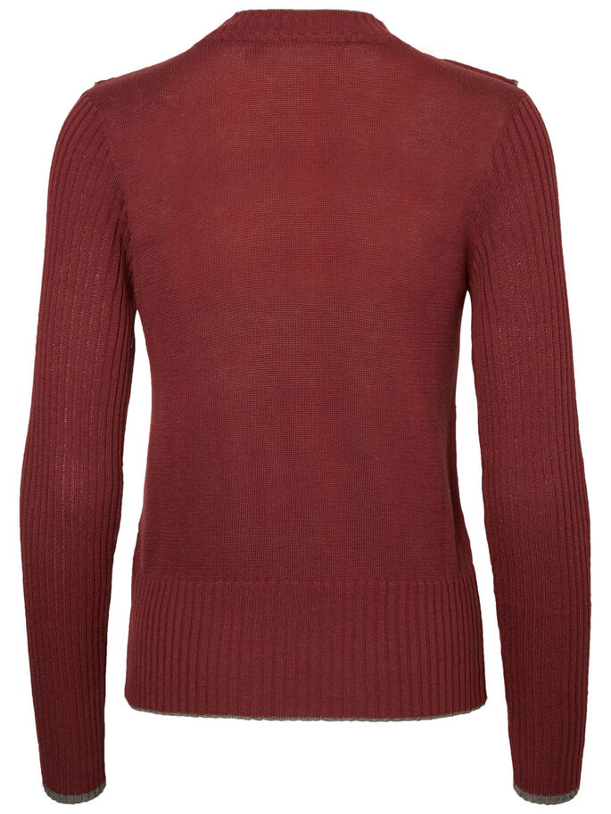FRILL KNITTED PULLOVER, Zinfandel, large