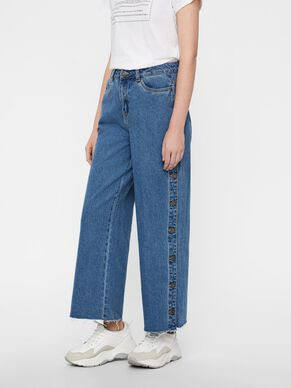 8bcdb75c WIDE CROPPED JEANS