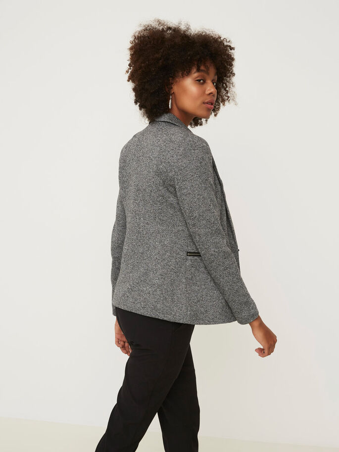 MANCHES LONGUES BLAZER, Dark Grey Melange, large