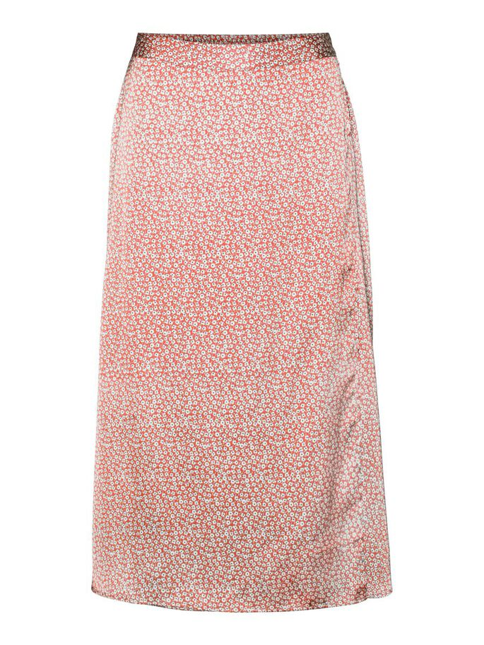 HIGH WAISTED SKIRT, Coral, large