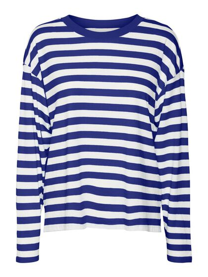 STRIPED LONG SLEEVED BLOUSE