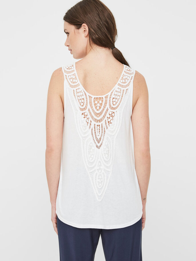 DETAILED SLEEVELESS TOP, Bright White, large