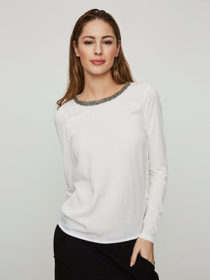 FEMININE LONG SLEEVED TOP, Snow White, large