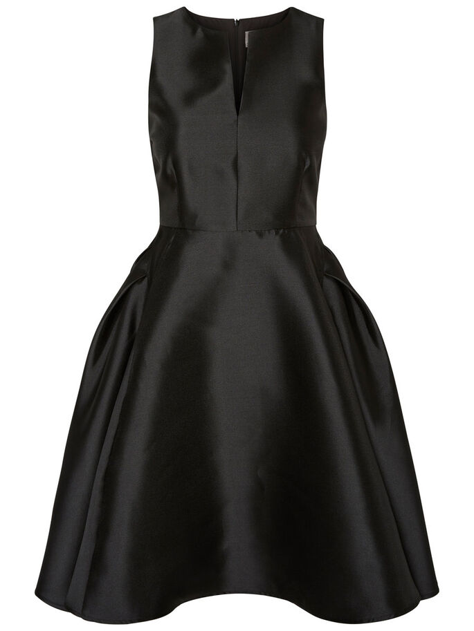SLEEVELESS PARTY DRESS, Black, large