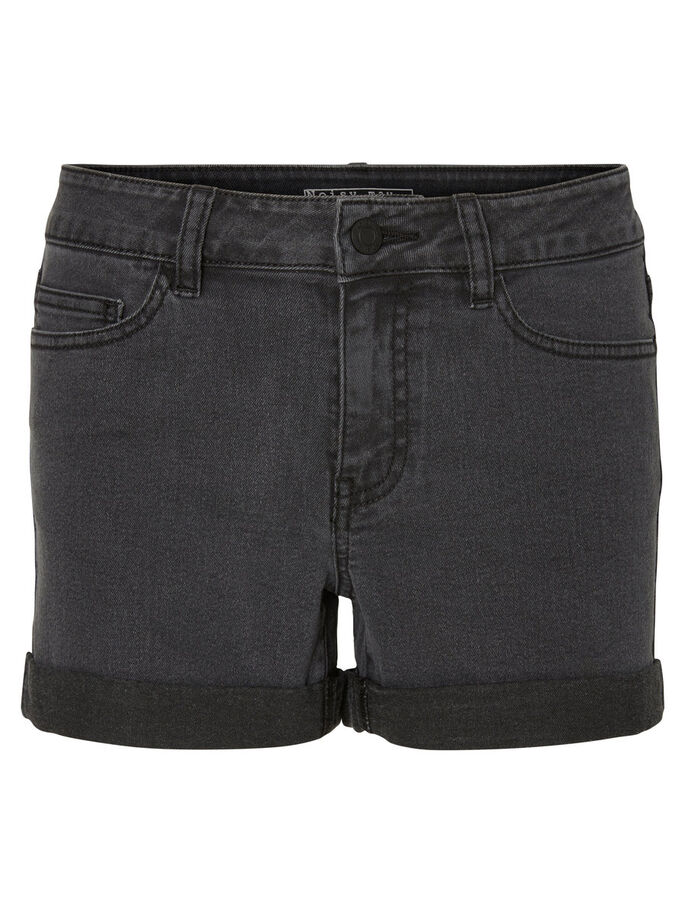 DENIM SHORTS, Dark Grey Denim, large