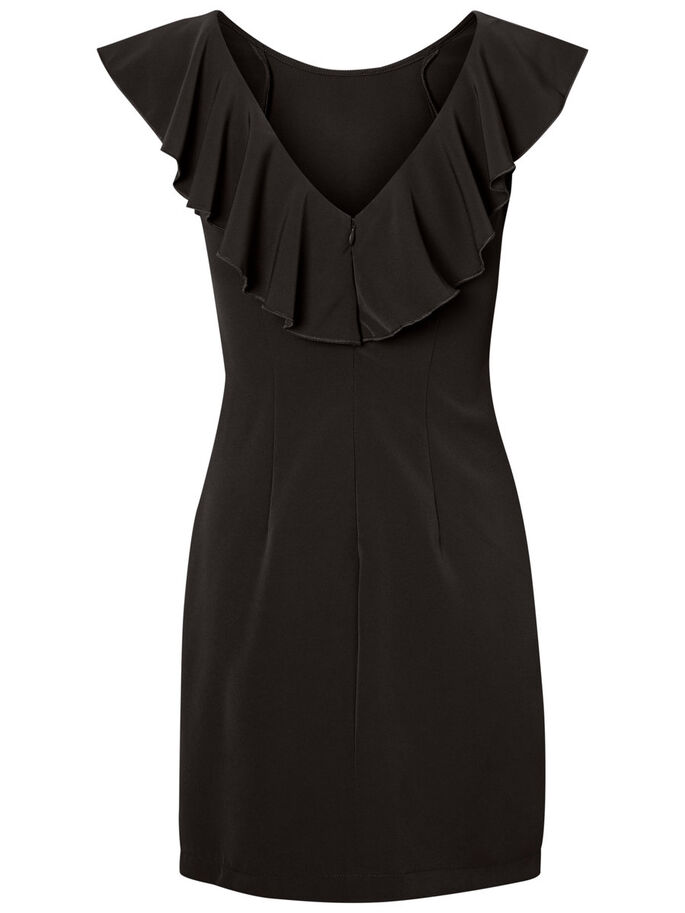 FEMININE PARTY DRESS, Black Beauty, large