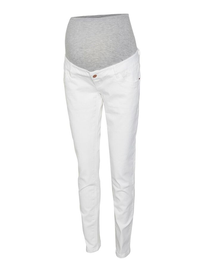 SLIM FIT MATERNITY JEANS, Antique White, large