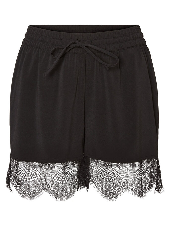 LACE SHORTS, Black, large