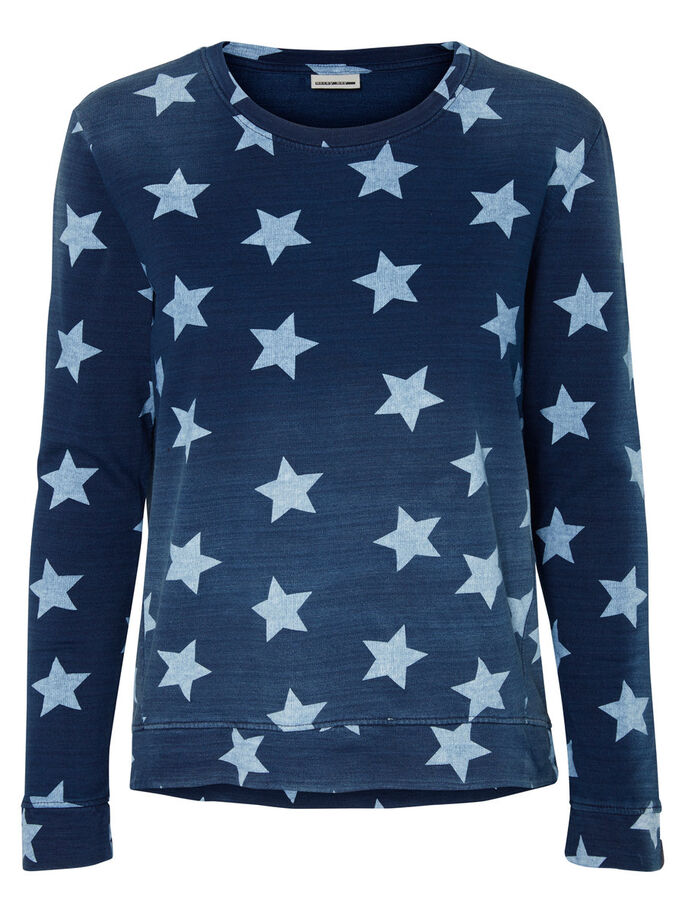 MANCHES LONGUES SWEAT-SHIRT, Blue Indigo, large