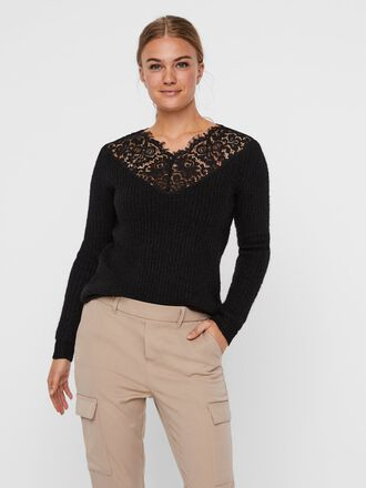 LACE KNITTED PULLOVER