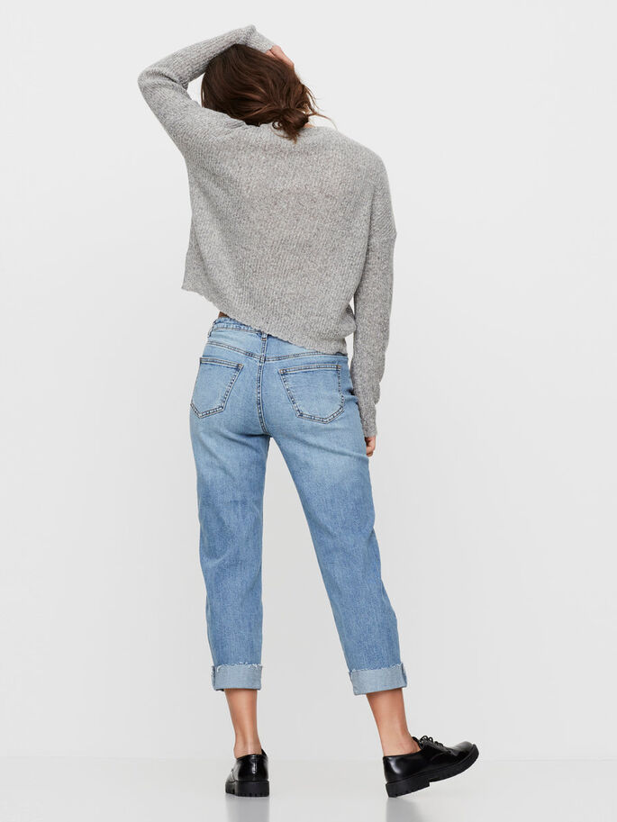 LIV NW STRAIGHT FIT-JEANS, Medium Blue Denim, large