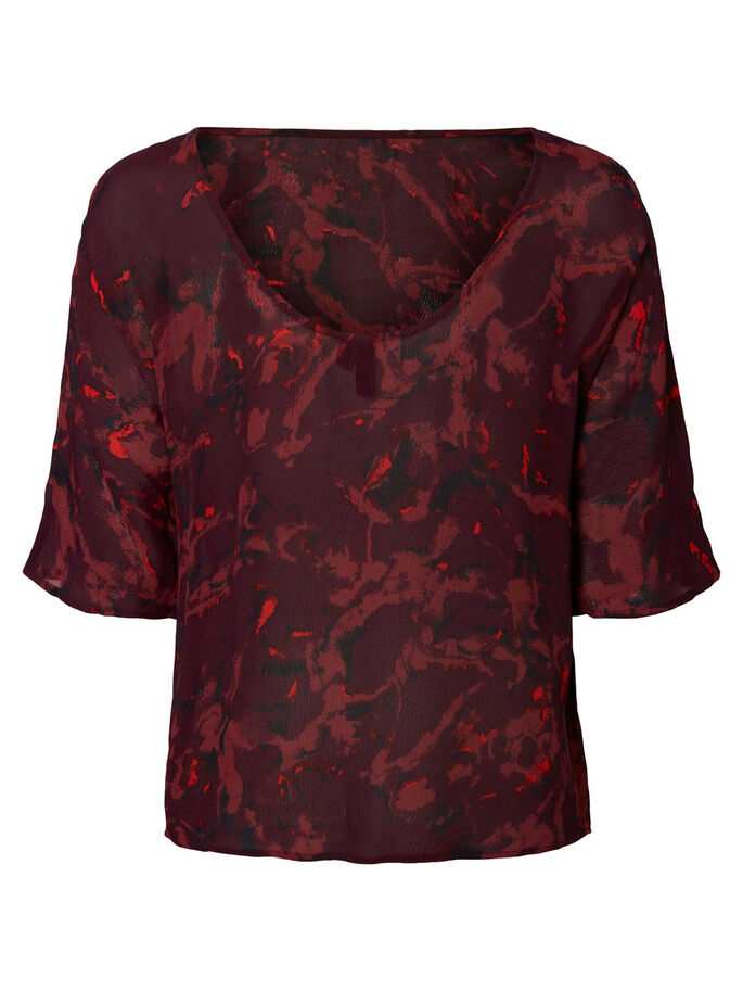 FEMININE 3/4 SLEEVED BLOUSE, Potent Purple, large