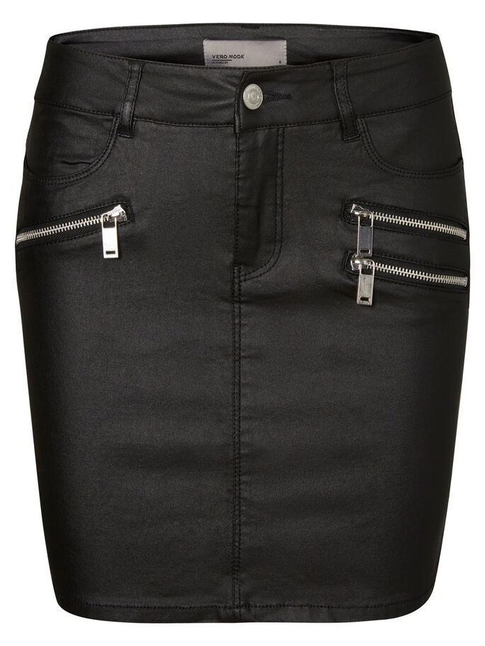 KORT KJOL, Black, large