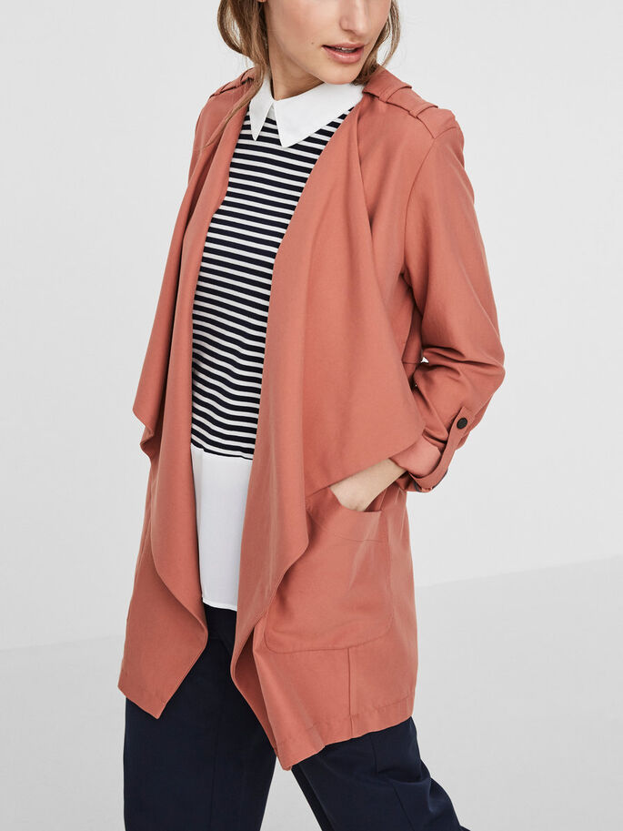 LONG JACKET, Cedar Wood, large